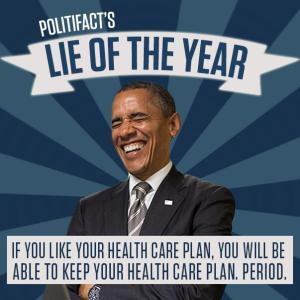 Obama Lie of the year ObamaCare