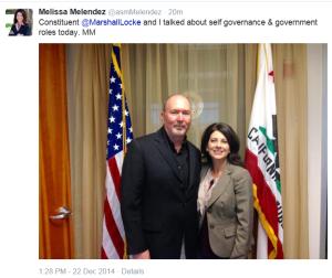 Meet with Assemblywoman Melendez 12-22-14